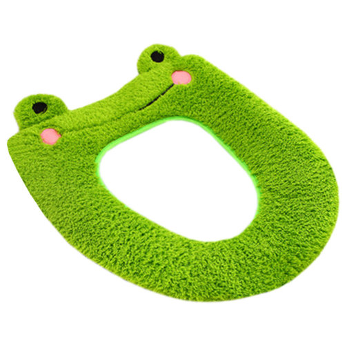 Lovely Cartoon Toilet Lid/Toilet Seat Cover,Winter Warmer/Soft Cushion Frog
