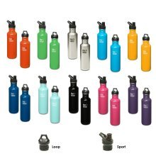 Klean Kanteen Classic - Stainless Steel drinks bottle - various sizes + caps