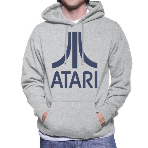 Atari Navy Logo Men's Hooded Sweatshirt
