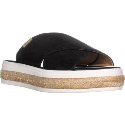 Calvin Klein Jupare Platform Espadrille Sandals, Black, 5.5 UK
