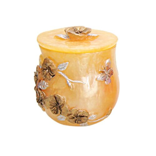 Resin Cotton Stick Box Toothpick Holder Storage Box, Vine Yellow