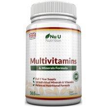 Multivitamins & Minerals Formula - 365 Tablets by Nu U Nutrition (1 Year Supply)
