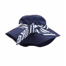 Summer Baby Girl Caps Cotton Sun Hat For 2-3 Years Baby Navy