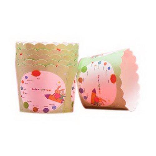 48 Pcs Fun Rabbit Pattern Muffin Cups Cake Paper Cups Bread Paper Holders, Green