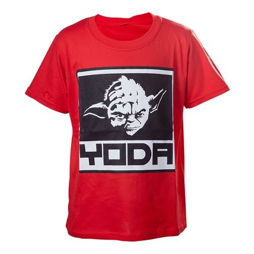 Star Wars Kids Boys Yoda Framed Closeup T-Shirt 134/140 Red TSY19614STW-134/140