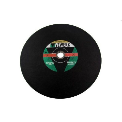 VEWERK 20PK 355 X 3.0 X 25.4MM Metal Cutting Discs For Chop Saw 8152