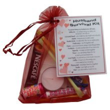 Husband Survival Kit Gift - Great novelty present for Birthday, Christmas, Anniversary or just because ...