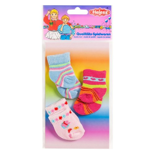 Heless 763Heless Striped Socks for Small Doll (3 Pair)