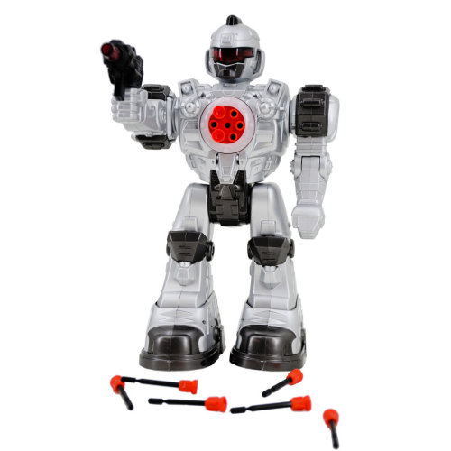 "deAO RC Robot ""Beast Ares"" with Multiple Actions Sounds Lights and Effects Includes Plastic Darts"