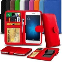 """iTronixs - HomTom HT30 (5.5"""") High Quality Clamp Style PU Leather Wallet Case Cover"""