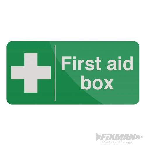 100mm x 200mm First Aid Box Sign - Selfadhesive 200 Fixman 349616 -  first aid box selfadhesive sign 200 100mm fixman 349616