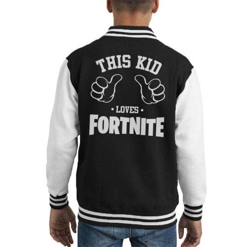 This Kid Loves Fortnite Kid's Varsity Jacket
