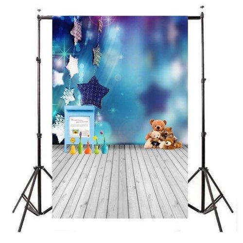 Vinyl Blue Baby Bear Children Kids Photography background Backdrop