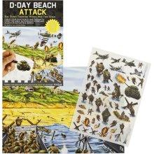WW2 D-Day Landings Beach Attack Rub Down Transfer Pack Educational Kids School DDay Normandy