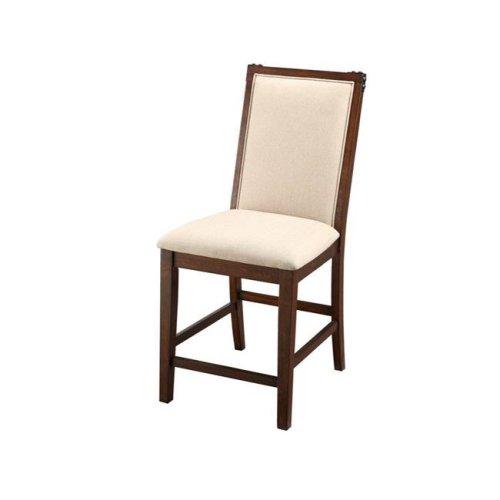Benzara BM166657 42 x 20 x 25 in. Rubber Wood High Chair - Brown & Cream, Set of 2