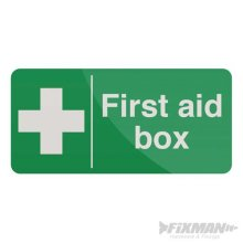 100mm x 200mm First Aid Box Sign - Selfadhesive 200 Fixman 349616 -  first aid box selfadhesive sign 200 100mm fixman 349616