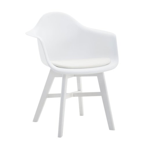 Visitor chair Calgary leatherette White