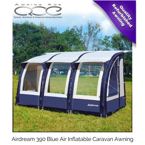 Camptech Airdream 390 Blue Lightweight Inflatable Caravan Air Awning
