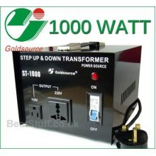 Goldsource ST-1000 1000W Step Down/Up Voltage Converter UK -> US ->UK