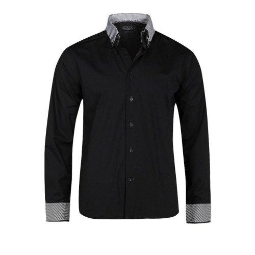 Victory Eagle Men's VT559 Long Sleeved Shirt Black
