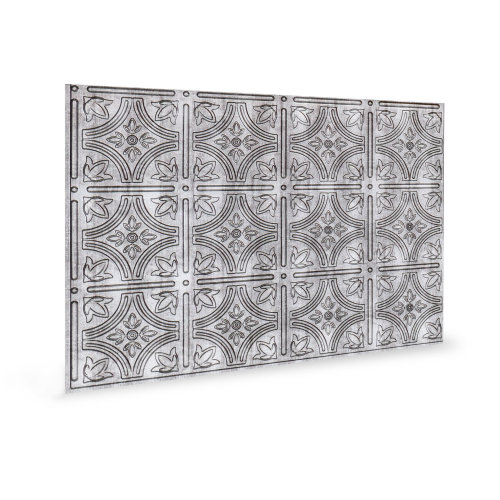 Profhome 3D 705216 Empire Crosshatch Silver Decor panel 3D shiny silver 1,7 m2
