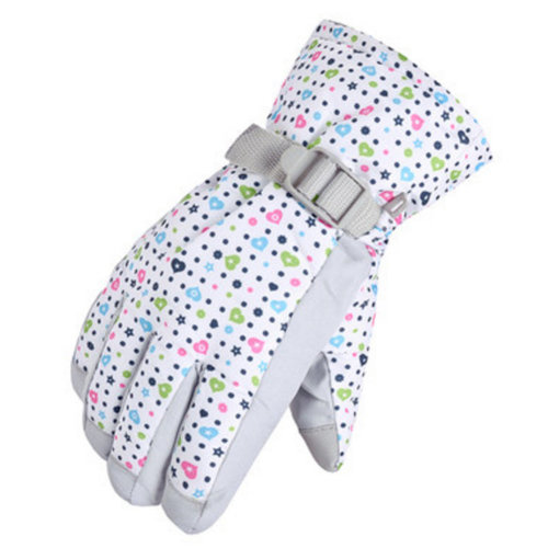 1 Pair Outdoor Winter Cycling Cold-proof Gloves Waterproof Skiing Gloves Warm Gloves,M