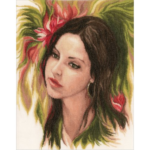"""LanArte Counted Cross Stitch Kit 13.2""""X17.2""""-Bewitching Youth (30 Count)"""