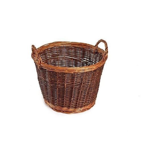 Medium Unpeeled Wicker Log Basket