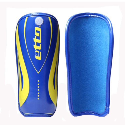 Creative And Professional Sock Style Soccer Shin Guards, Blue