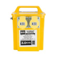 Defender 3.0Kva Power Tool Transformer with 2x 16amp Outlets