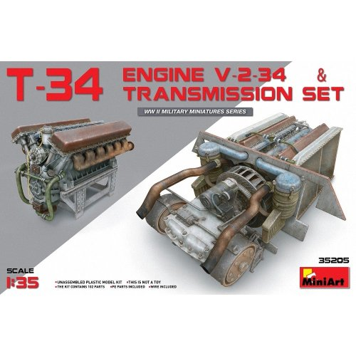 Min35205 - Miniart 1:35 - T-34 Engine & Transmission Set