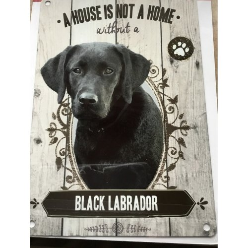 Black Labrador A House Is Not A Home Metal Sign