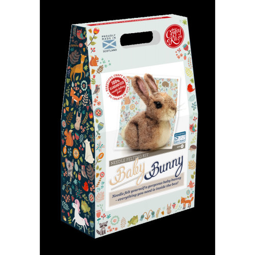Baby Bunny Needle Felting Kit - Includes everything you need- By The Crafty Kit co.
