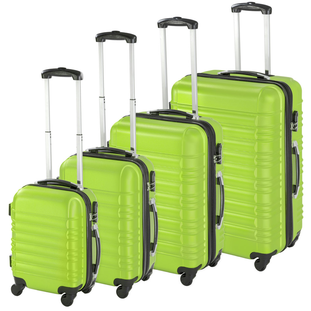 19a61e82c Hard-shell suitcase set 4 PCs. lightweight green on OnBuy