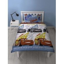Disney Cars 3 Lightning Single Duvet Cover Set Polyester