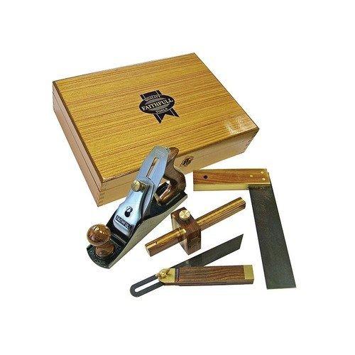 Faithfull FAIPLANEKIT Plane & Woodworking Set of 4 Piece