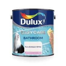 Dulux Easycare Bathroom Soft Sheen Paint, Pure Brilliant White 1L