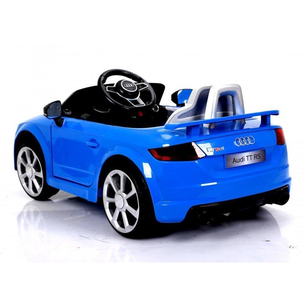 Blue Audi Tt Rs 6v Electric Ride On Car Kids Ride On