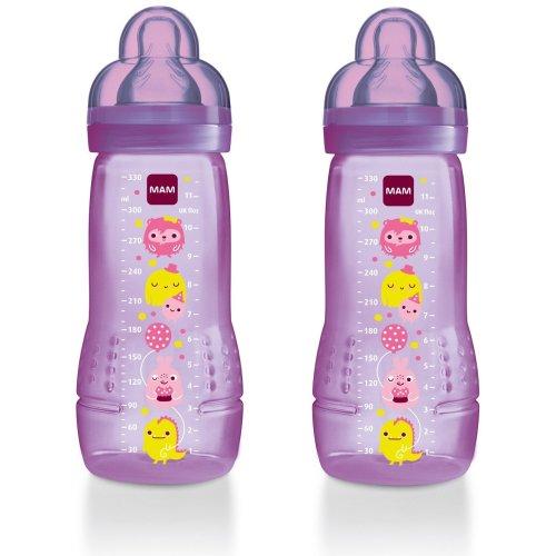 Mam Baby Bottle 330ml - 2pk - Girl