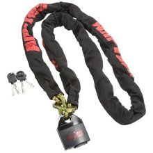 Am-tech 10mm x 180cm Square Link Nylon Sleeved Chain With 65mm Security Lock -