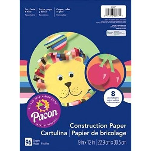 Art Street R Construction Paper 9in x 12in Assorted Colors Pack Of 96