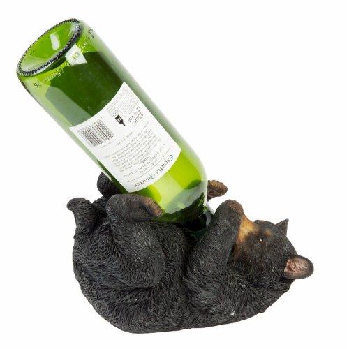Naturecraft Black Bear Wine Bottle Holder