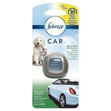 Febreze PET Odour Scented Car Air Freshener Vent Clip-On 30-Day Starter Kit, 2ml