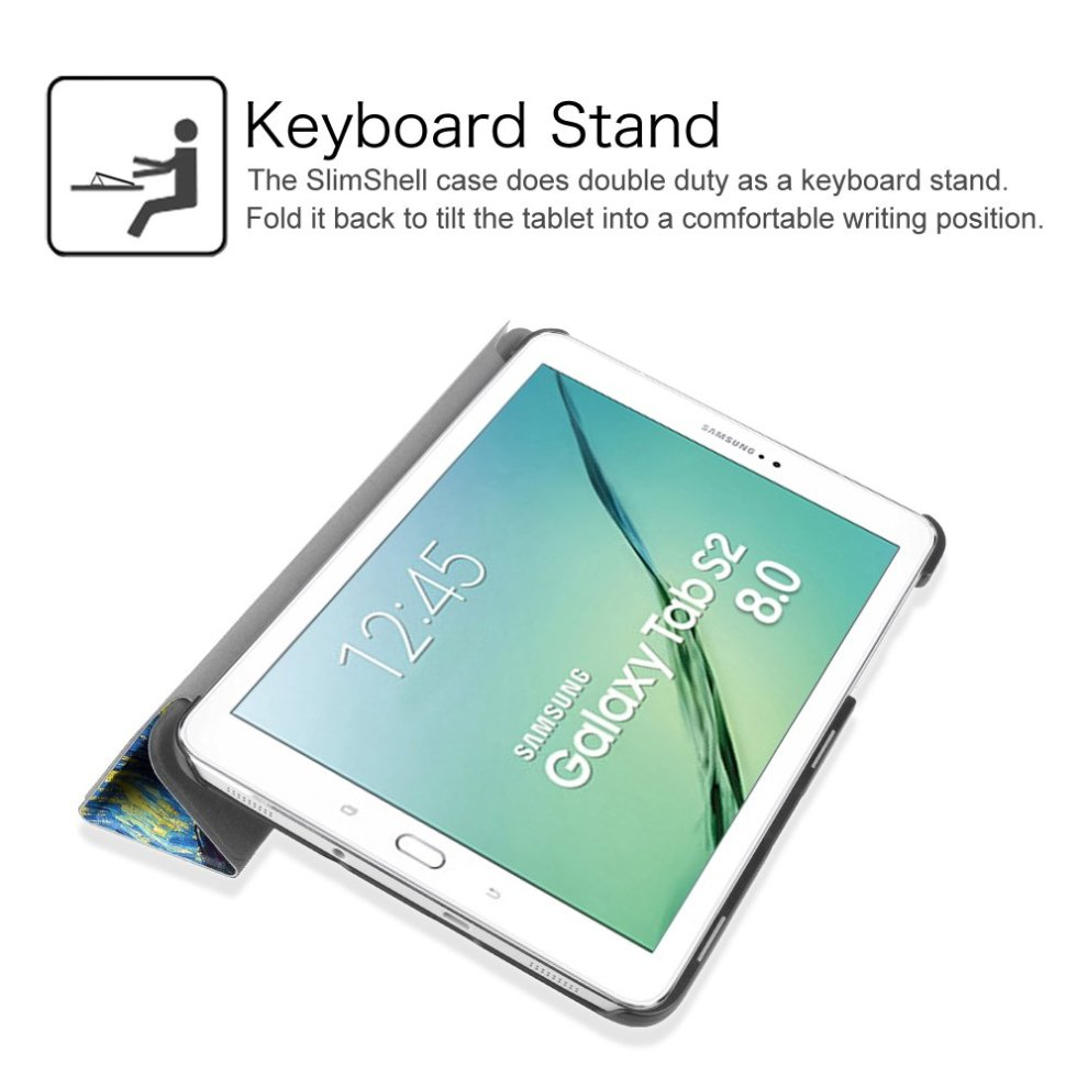 ... Fintie Samsung Galaxy Tab S2 8.0 Case - Super Thin Lightweight SlimShell Stand Cover with Auto. >