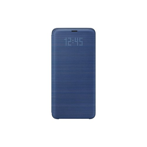 best service 4abcd df1a3 Samsung LED Display View Flip Wallet Cover Case for Galaxy S9 Plus -  Blue,EF-NG965PLEGWW