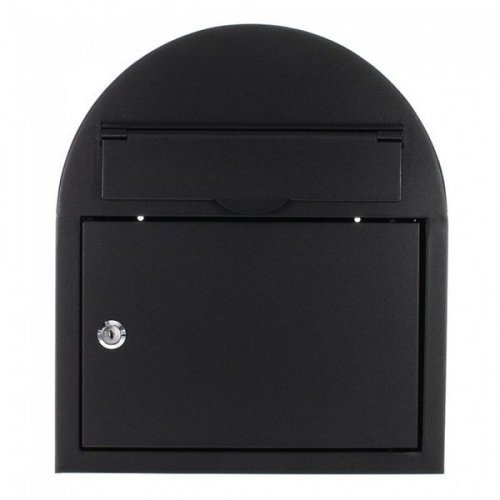Ascot Large Black Key Lock Mailbox Rottner