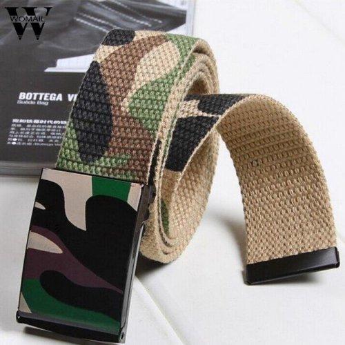 Men\'s Fashion Automatic Buckle Canvas Belts Casual  Men Belt Waist Strap cinturones hombre Amazing designer belts men