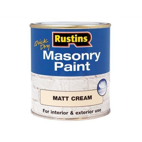 Rustins MASPC250 Quick Dry Masonry Paint Cream 250ml