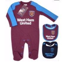 West Ham United Baby Sleepsuit - 2017/18 Season (3-6 Months) - 2018 Babies Pram -  west ham united 2018 babies pram sleep suit baby grow play