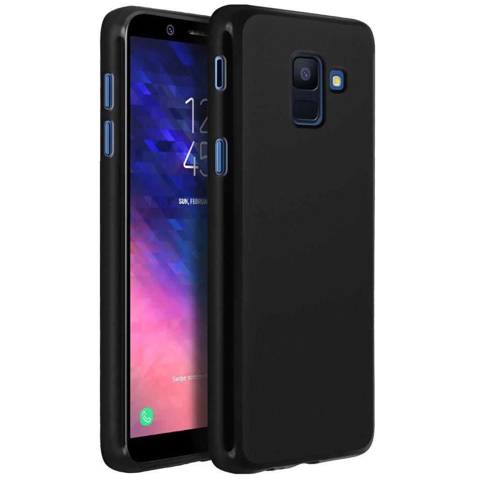 half off 3110e 26902 Silicone case, Glossy & matte back cover for Samsung Galaxy J6 - Black